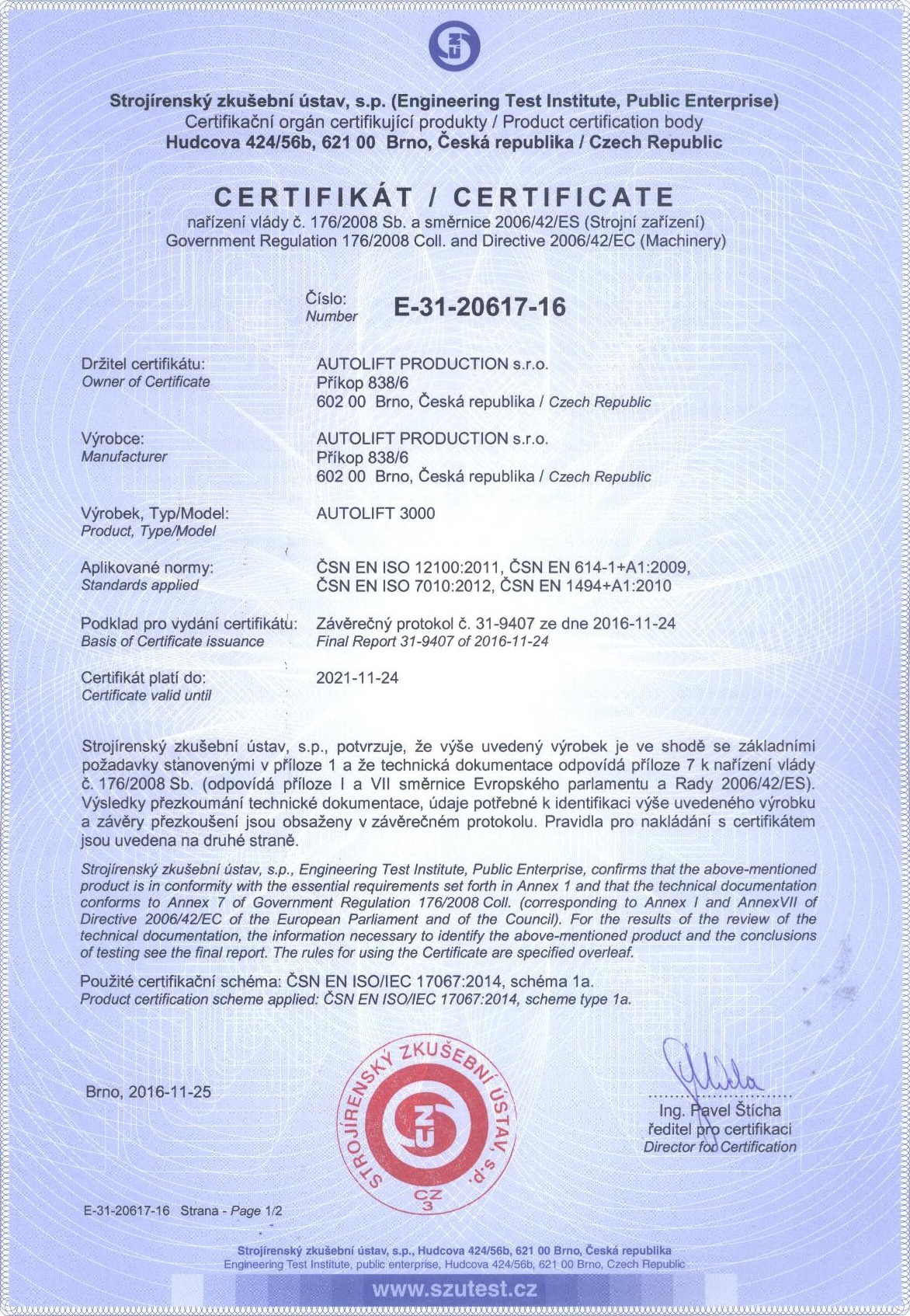 Autolift3000 certificate-page-001